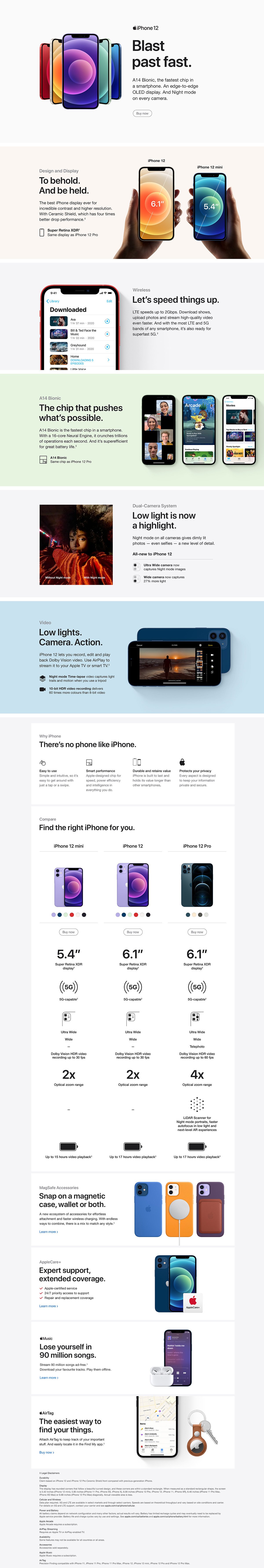 Compare iPhone Devices