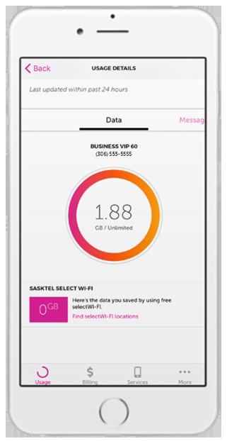 mySASKTEL app