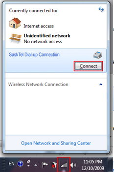 how to create dial up connection in windows 7