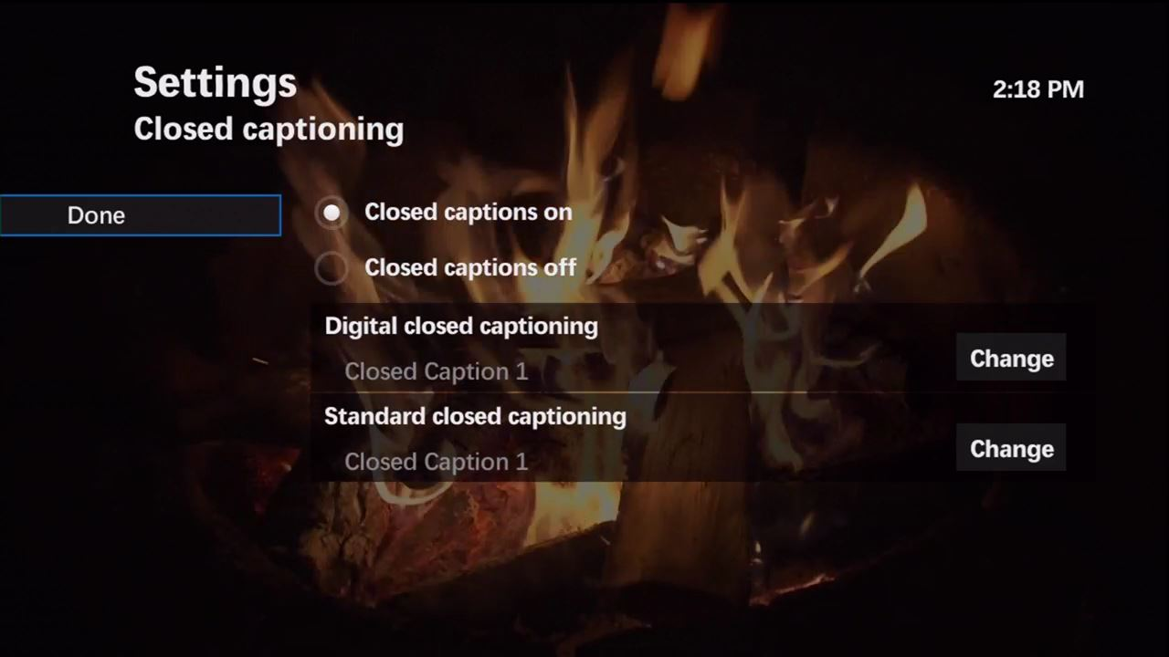 how to turn off described video sasktel