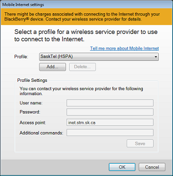 Setting up your BlackBerry as a tethered modem on a Windows computer