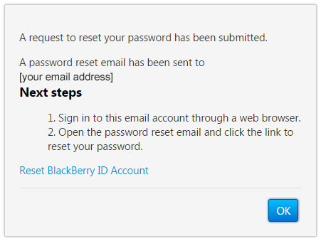 Blackberry Password Reset Email The Password Reset Email