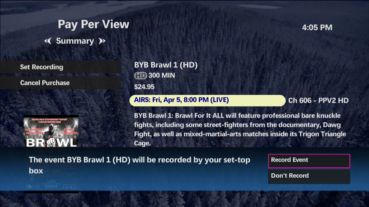 Using Pay Per View (PPV) on maxTV
