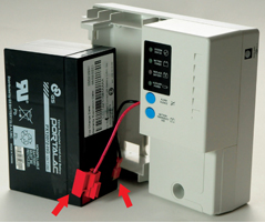 Replacing your infiNET backup battery for the Power Supply Unit