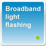 Broadband Light Is Flashing