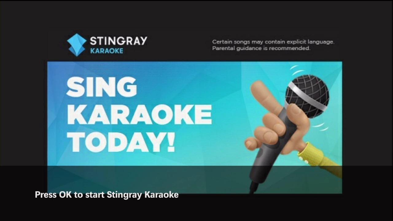 Renting the Stingray Karaoke app on maxTV