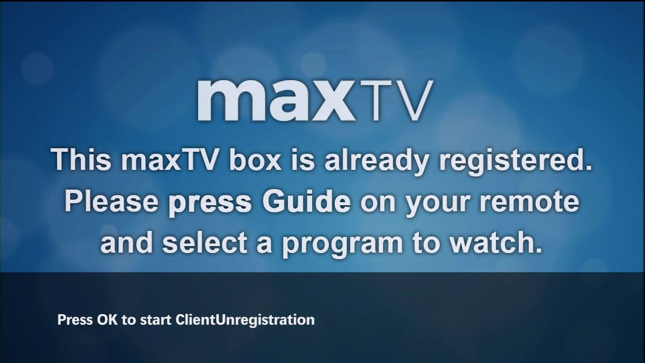Upgrading Your Maxtv Pvr Sky Tv Box Wiring Diagrams Screen This Is Already Registered