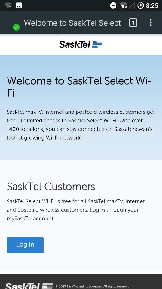 Using SaskTel selectWI-FI