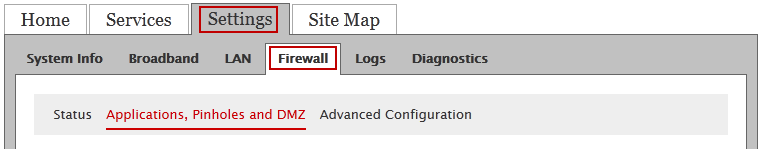 Setting up port forwarding for your game system on a Pace or