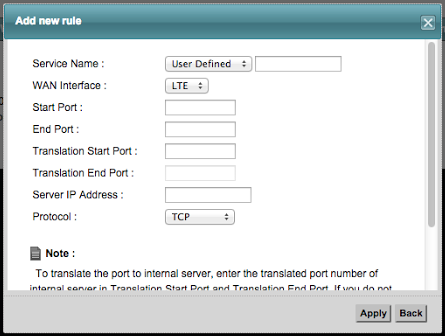 Setting up port forwarding for your game system on a Huawei
