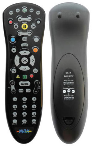 Using your maxTV remote - models MXv4 IR and MXv4 RF & Adapter