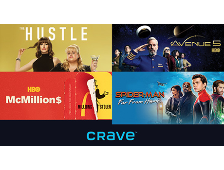 Crave + Movies + HBO with STARZ