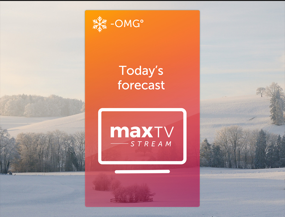 Stay cozy with maxTV Stream and save
