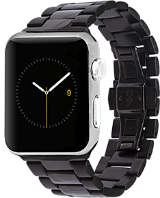 Apple Case-Mate Black/Grey Metal Linked Watchband - 42mm