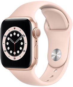 Apple Watch Series 6 GPS, 44mm Gold Aluminum Case with Pink Sand Sport Band