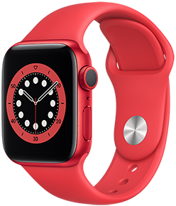 Apple Watch Series 6 GPS, 44mm PRODUCT(RED) Aluminum Case with PRODUCT(RED) Sport Band