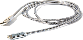 Apple IQ Ultra 1.2M Metallic Coil Lightning Cable