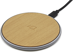 iQ Fast Wireless Charging Pad - Wood