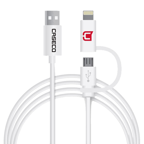 Caseco 1.5m 2-in-1 Micro/Lightning cable