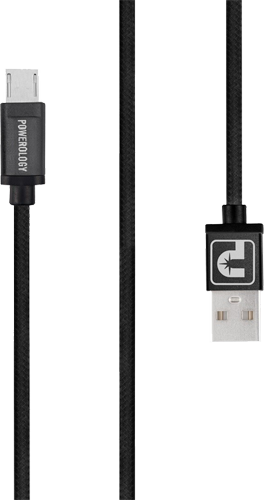 Powerology 2m Micro USB braided cable